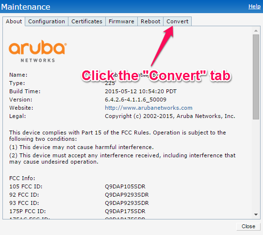 Aruba: Setting up an Aruba IAP for a Site Survey – FineSine