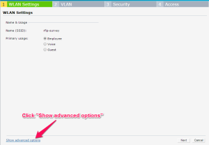 show advanced options