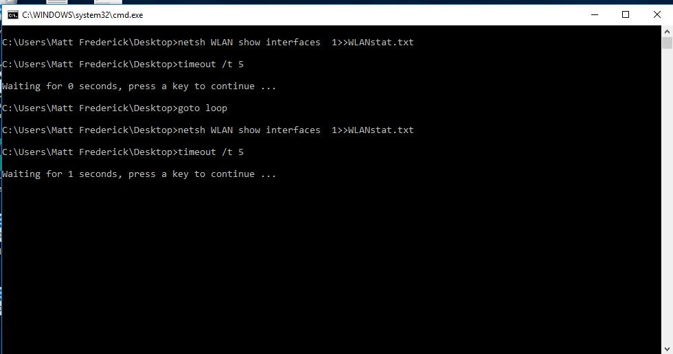Using netsh WLAN show interfaces to Monitor Association/Roaming